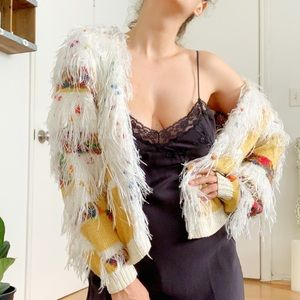 Bohemian shaggy sweater